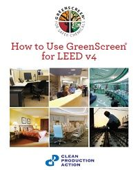 New Report! How to use GreenScreen for LEED v4